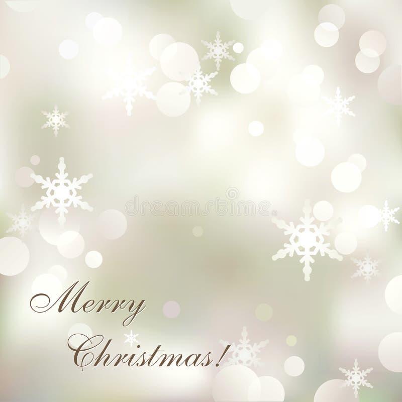 Красивая абстрактная веселого предпосылка рождества и Нового Года с яркие sparkls снежинок стоковое изображение