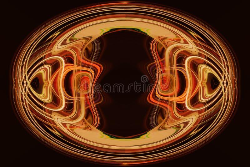 Красивая абстрактная круглая диаграмма, темная предпосылка иллюстрация штока