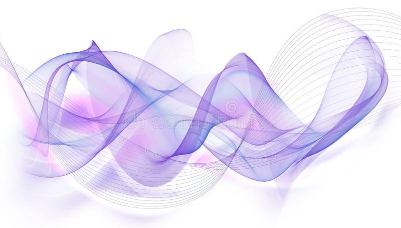 Красивая абстрактная современная развевая предпосылка иллюстрация вектора