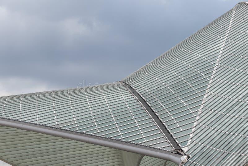 Красивая архитектура от железнодорожного вокзала Liège-Guillemins стоковая фотография