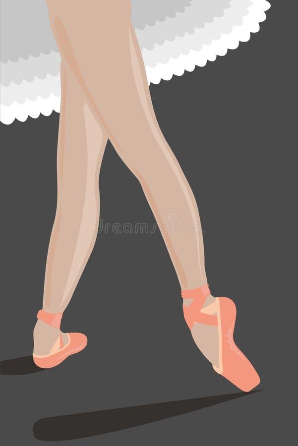 Красивая балерина стоя в положении стоковые фото