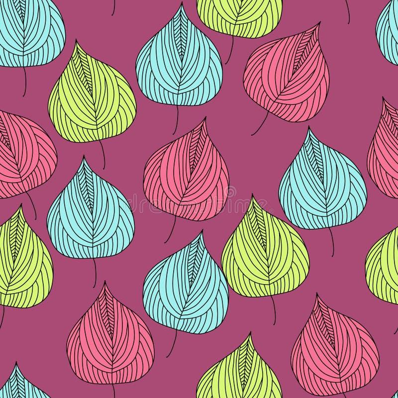 Красивая безшовная картина с листьями осени стоковое фото