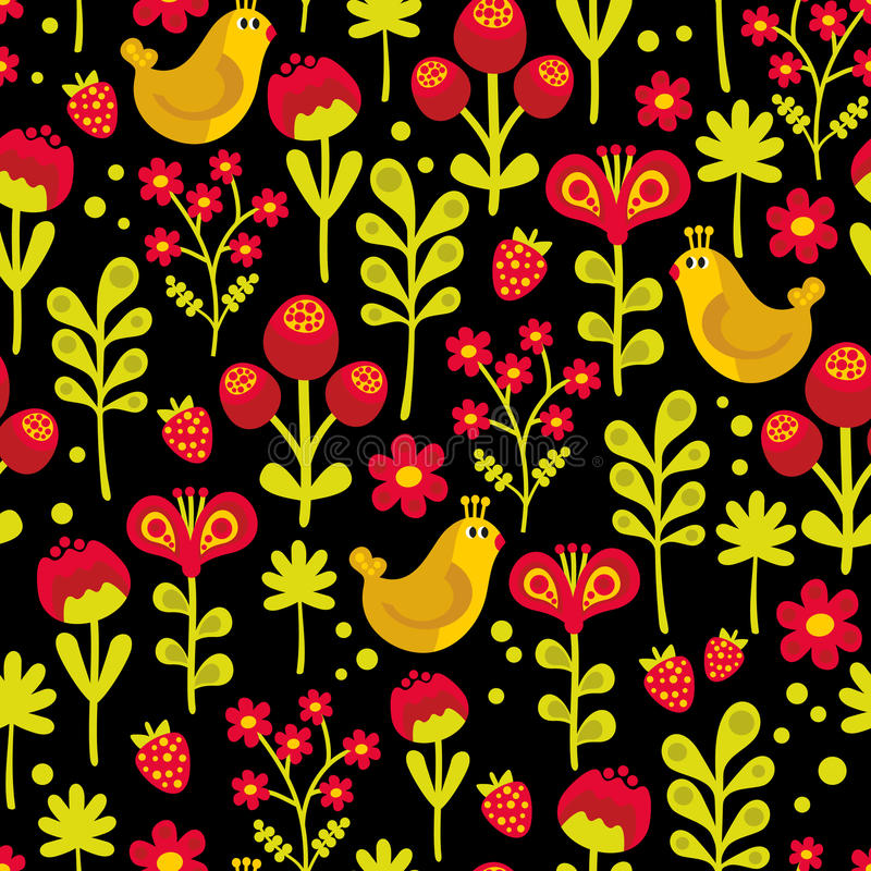 Download Красивая безшовная текстура с птицами. Иллюстрация вектора - иллюстрации насчитывающей декоративно, brampton: 33739666