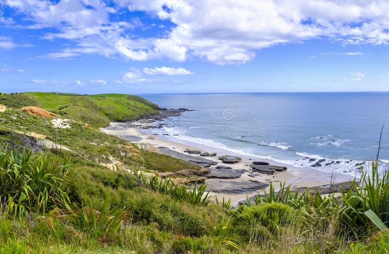 Красивая береговая линия Новой Зеландии стоковые фото