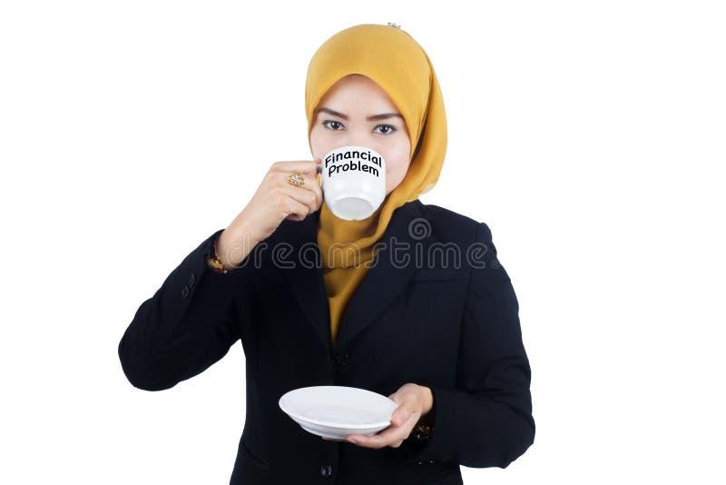 Красивая бизнес-леди Muslimah стоковое фото rf