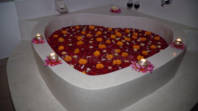 Красивая ванна с цветками стоковые фото