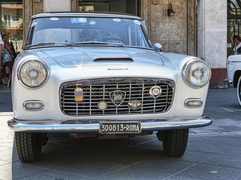 Красивая винтажная модель Lancia Appia автомобиля изготовила итальянцем Lancia с 1953 to1963 стоковое фото