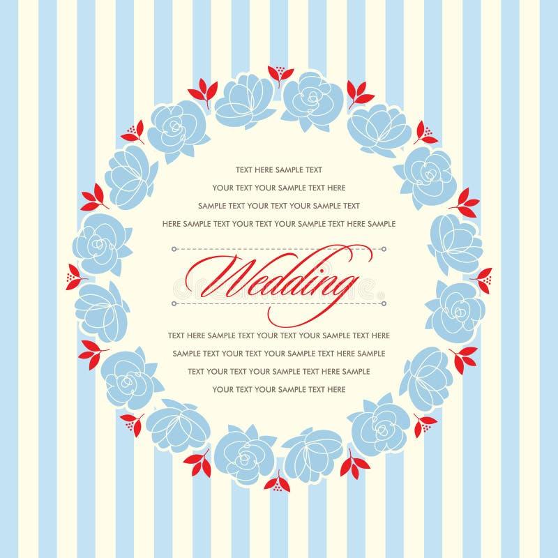 Красивая винтажная флористическая карточка приглашения также вектор иллюстрации притяжки corel бесплатная иллюстрация