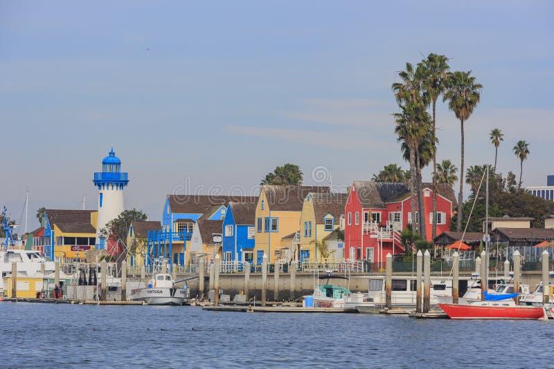 Красивая гавань Marina del Rey стоковое изображение rf