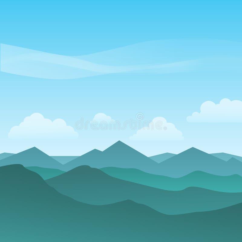 красивая гористая предпосылка ландшафта иллюстрация вектора