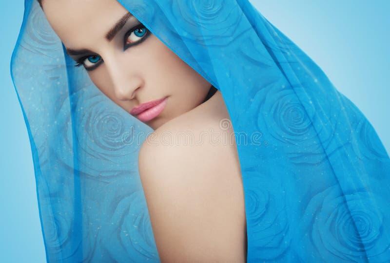 Красивая голубая принцесса стоковые изображения rf