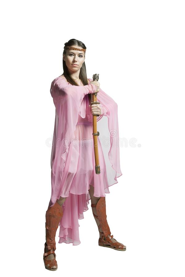 Красивая девушка воина стоковое фото