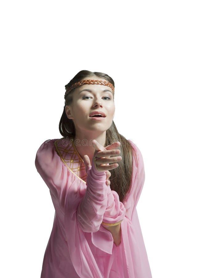 Красивая девушка воина стоковая фотография rf