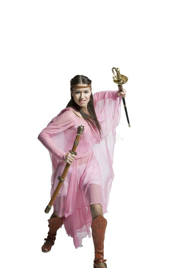 Красивая девушка воина стоковые изображения rf