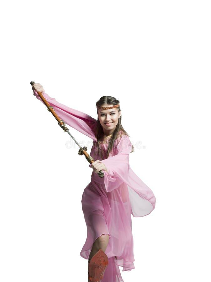 Красивая девушка воина стоковое изображение rf
