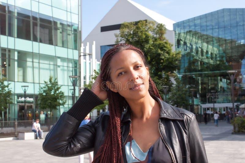 Красивая девушка в Европе стоковая фотография rf
