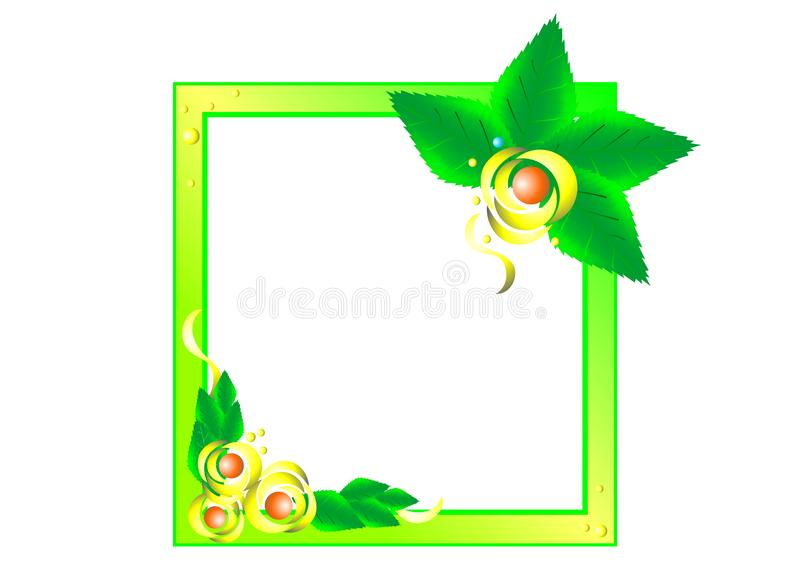 Красивая декоративная рамка цветка вектора лепестков иллюстрация штока