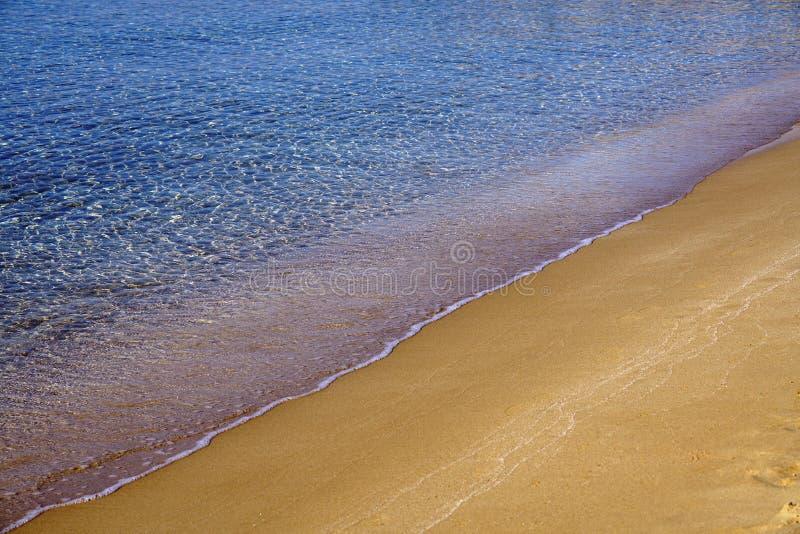 Красивая деталь пляжа Farangas, Paros стоковые фотографии rf