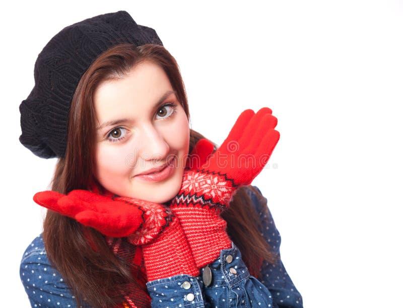 Красивая девушка брюнет. стоковая фотография