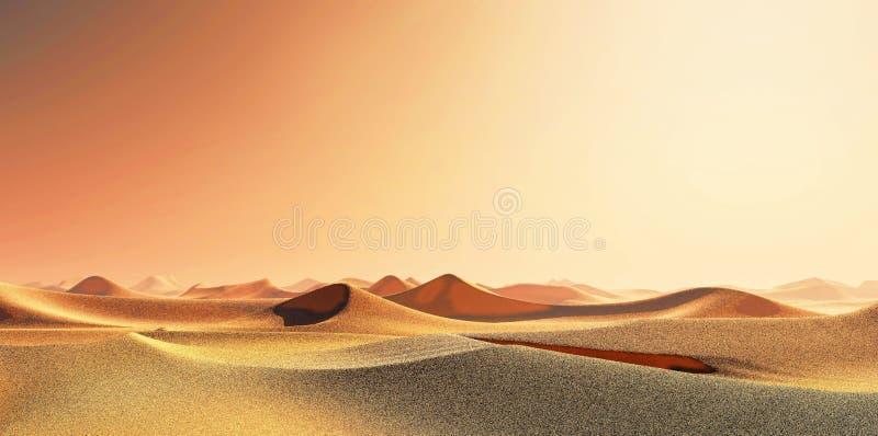 Красивая естественная предпосылка - африканский перевод оазиса 3d стоковая фотография rf