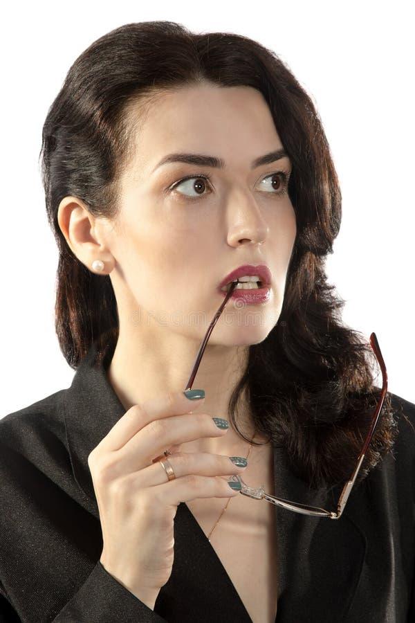 Красивая женщина брюнет с коричневыми глазами стоковые изображения