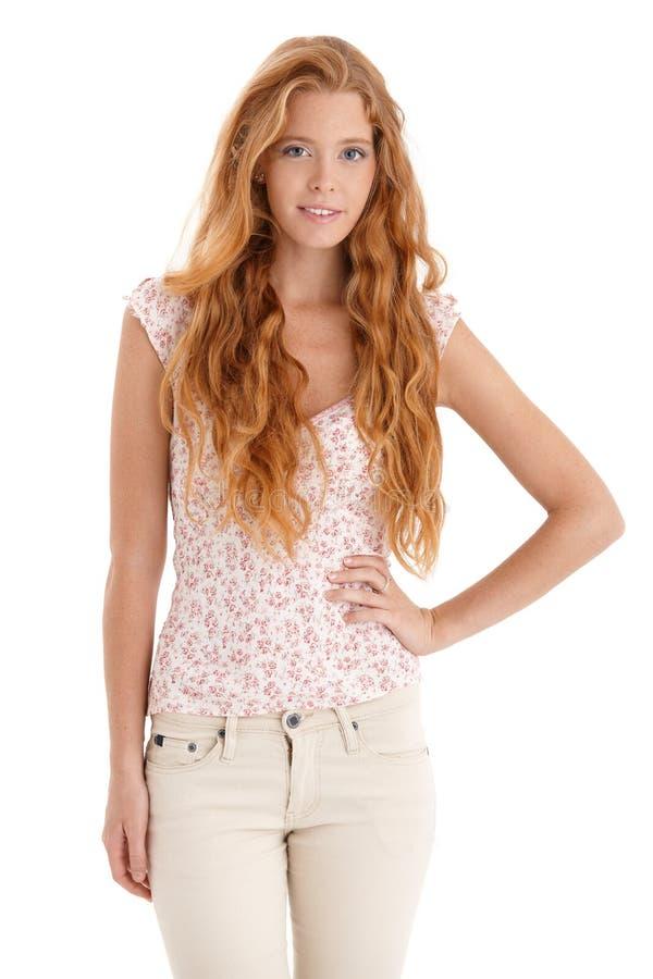 Красивая женщина redhead стоковые фотографии rf