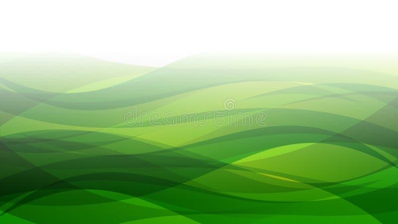 Красивая зеленая абстрактная современная развевая предпосылка иллюстрация штока