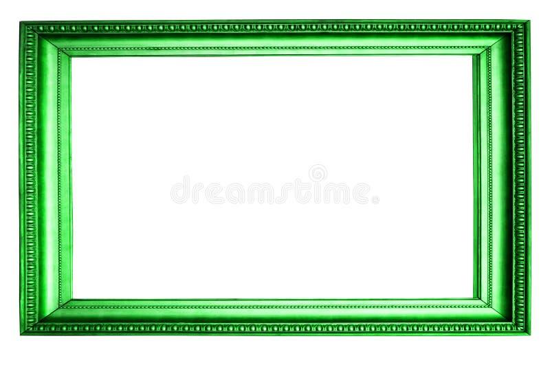 красивая зеленая рамка изолированная на белой предпосылке стоковое фото rf