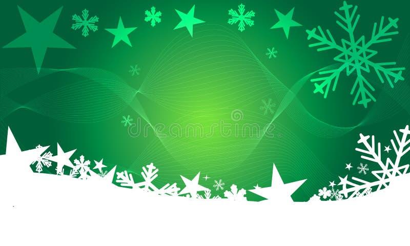 Красивая зеленая абстрактная современная предпосылка рождества с волной влияния смеси бесплатная иллюстрация