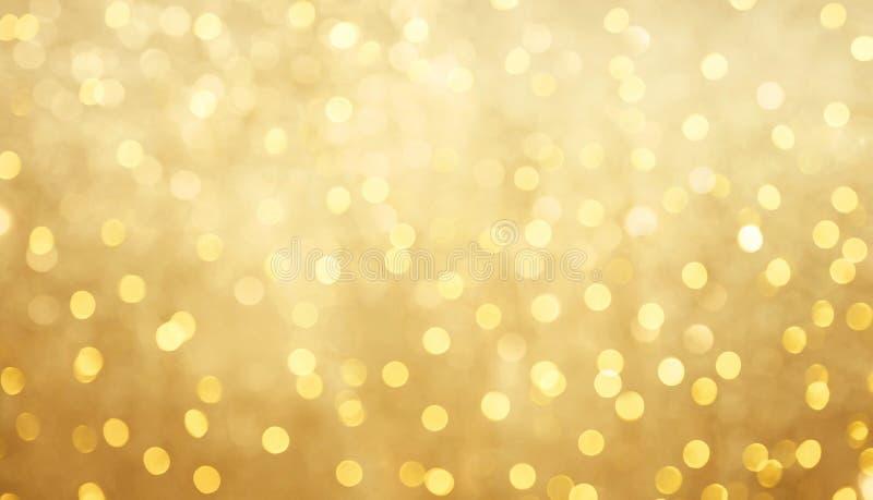 Красивая золотая предпосылка bokeh стоковая фотография