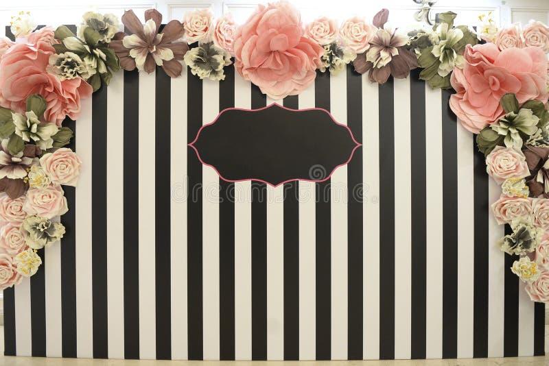 Красивая зона фото Свадьба, партия, день рождения стоковое фото