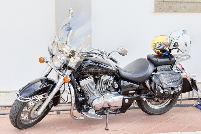 Красивая изготовленная на заказ тень 750 Honda motocycle стоковое изображение rf
