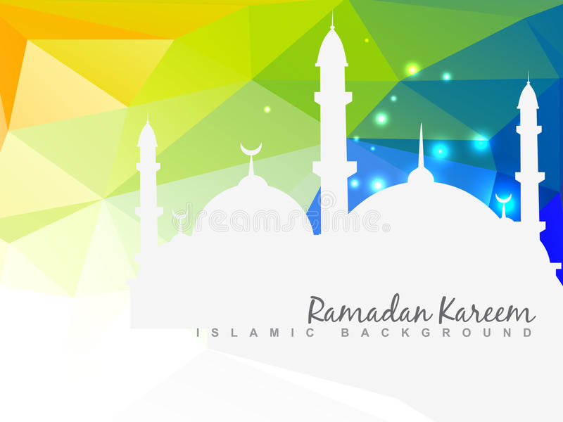 Красивая исламская предпосылка иллюстрация вектора