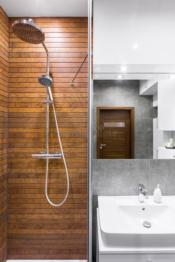 Красивая идея интерьера ванной комнаты стоковая фотография rf