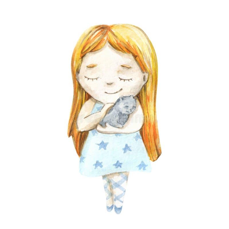 Красивая и милая балерина бесплатная иллюстрация