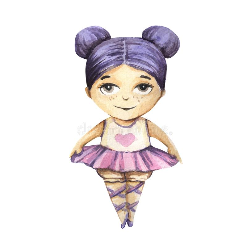 Красивая и милая балерина иллюстрация вектора