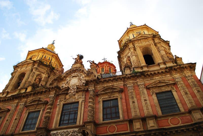 Красивая католическая церковь San Luis в Севилье, Испании стоковое фото rf
