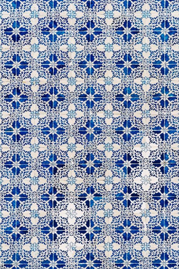Красивая керамическая картина текстуры стены в Лиссабоне стоковое фото rf