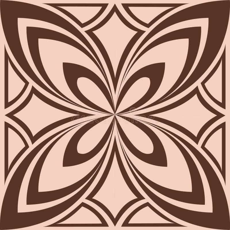 Красивая коричневая картина, предпосылка кофе, беж, сделала по образцу картину, цветок бесплатная иллюстрация