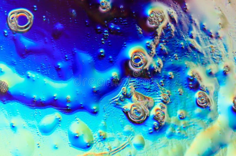 Красивая красочная предпосылка, неоновые света, пузыри, пятна o стоковое фото rf