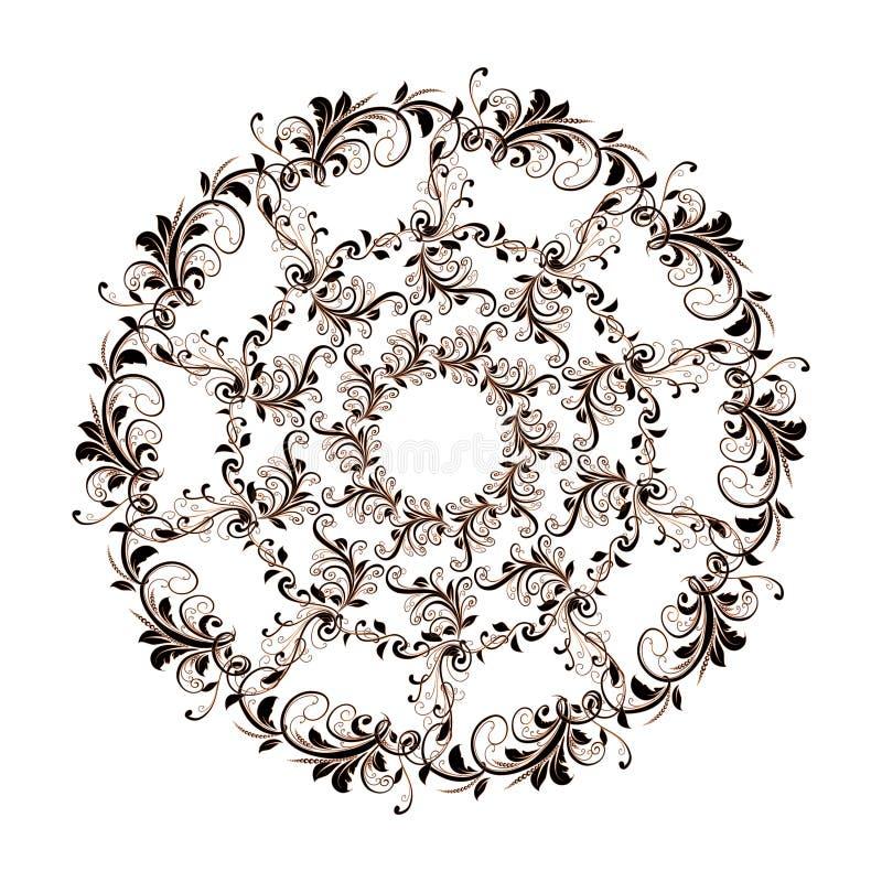 Красивая круговая картина флористического иллюстрация штока