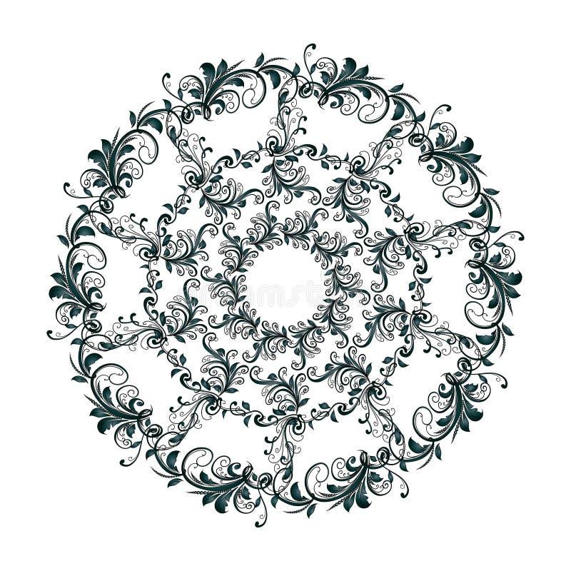 Красивая круговая картина флористического бесплатная иллюстрация