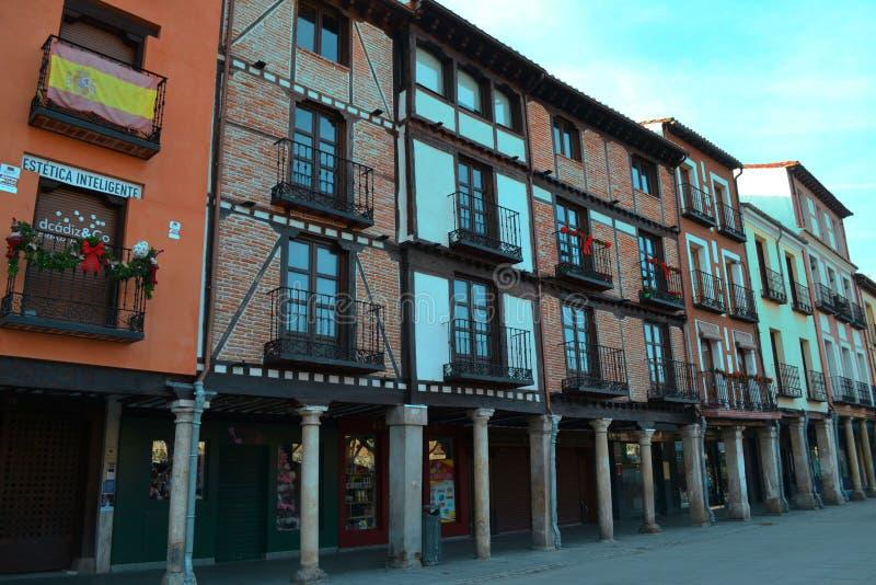 Красивая маленькая улица в Испании стоковые фото