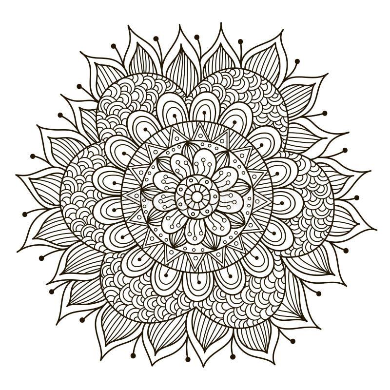 Красивая мандала Deco флористическая иллюстрация вектора