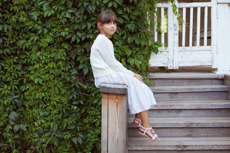 Красивая маленькая девочка в платье стоковое фото