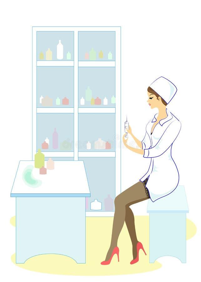 Красивая медсестра, доктор r Женщина опытный профессионал бесплатная иллюстрация