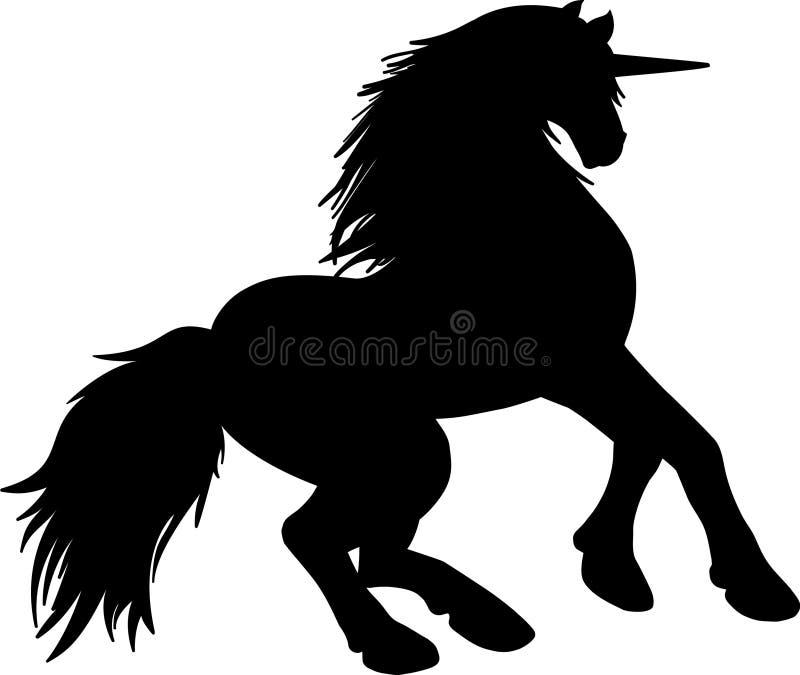 красивая мифическая лошадь с выступая рожком на своем лбе, оно также вызвано предвестником счастья Этот мифический crea бесплатная иллюстрация