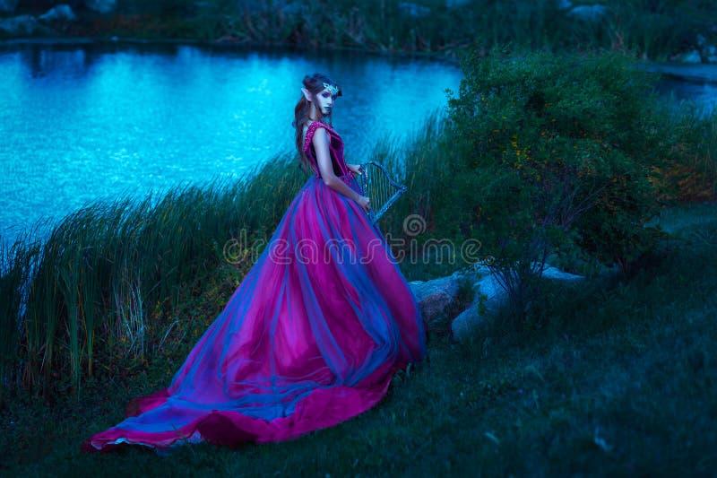Красивая молодая женщина эльфа стоковое изображение
