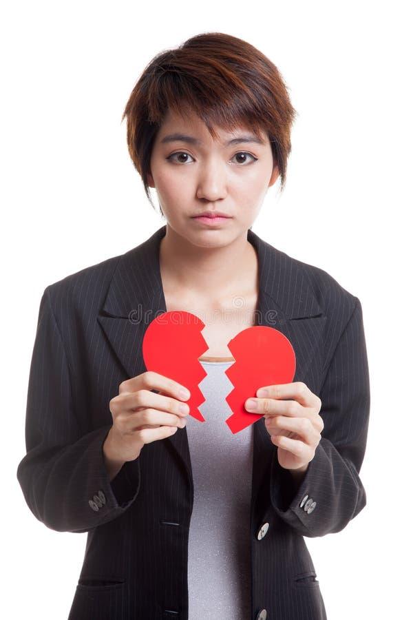Download Красивая молодая азиатская женщина с разбитым сердцем Стоковое Изображение - изображение насчитывающей влюбленность, красно: 81811887