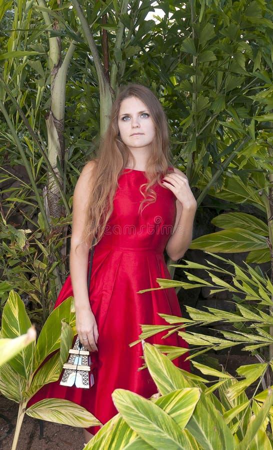 Download Красивая молодая женщина в парке Стоковое Фото - изображение насчитывающей green, backhoe: 37931644